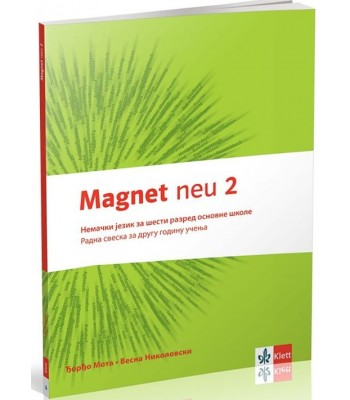 Magnet neu 2 - radna sveska + cd, nemački jezik za 6. razred