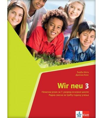 """Nemački jezik 7, radna sveska """"WIR NEU 3"""""""
