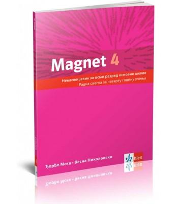 """Nemački jezik 8, radna sveska """"Magnet 4"""" + CD"""